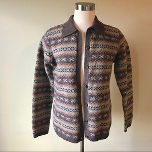 Lauren Ralph Lauren Boxy Wool Cardigan Sweater